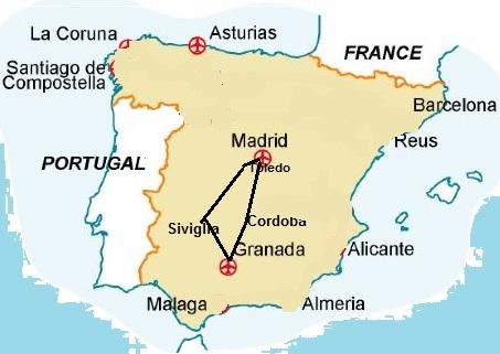 Cartina Spagna Toledo.Madrid Andalusia E Toledo Da Madrid Prezzi Online Easyweek